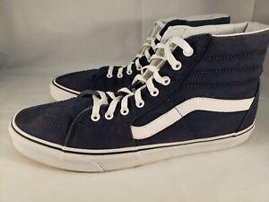Vans Off The Wall 721356 Dark Blue Hi-Top Shoes Men's Size 13