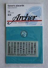 Archer 1/35 US & Allied Generic Interior Data Placards (Black Aluminum) AR35210S