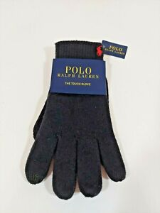 Polo Ralph Lauren Men's Ribbed Touch Gloves NWT Polo Black