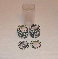 $100 Welcome to Las Vegas Casino Poker Gaming Chips Set of 25 with Case