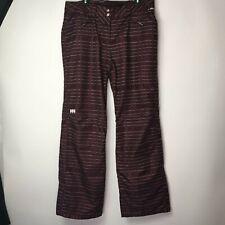 Helly Hanson Tech XP Purple Snow Pants Pink White Plaid Pattern Sz XL
