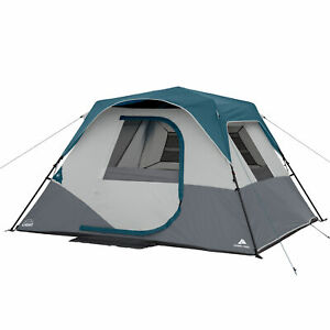 BRAND NEW Ozark Trail 6 Person Instant Tent Cabin Tent W/Built in LED Lights