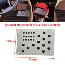 Universal Aluminum Alloy Car Floor Carpet Mat Patch Foot Heel Plate Pedal Pad