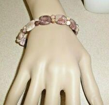Jay King 925 Silver Pink Opal Beaded Stretch Bracelet NWOT