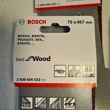 🔅  12 courroies abrasives BOSCH ponçage 75 x 457 mm grain 40