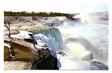 Niagara Falls Canada Postcard Ontario Winter Snow Ice Frozen Vintage Unposted
