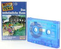 TKKG 143  Das unheimliche Haus Hörspiel  MC blau Kassette Europa logo