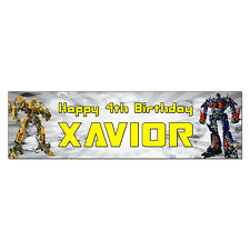 Personalized & Custom Printed Transformers Bumblebee Birthday Banner Party Decor