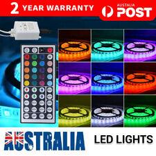 RGB LED STRIP LIGHTS IP33 3528 5/10/20M 300-1200LEDS 12V + 44 KEY IR CONTROLLER