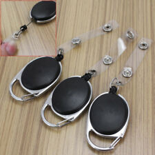 3x Ausweisjojo mit Seil Metallumrandung Schlüsselring Kartenhülle Ausweishalter