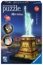 Jigsaw Puzzle Ravensburger 3d Statue of Liberty Night Edition
