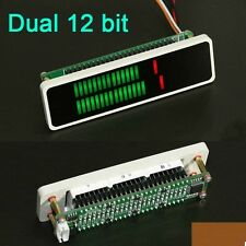 Dual 24 LED Stereo Level display indicator VU Meter AGC Mode Light Board + Case