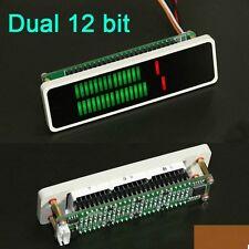 Dual 24 LED Stereo Level display indicator VU Meter AGC Mode Light Board + Case