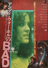 ANDY WARHOL'S BAD Japanese B2 movie poster 1977