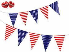 USA Patriotic Flag Theme Bunting Banner Stylish party decoration by PARTY DECOR