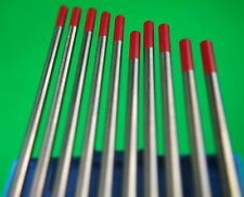 2.4mm 10Pcs WT20 2% Thoriated Tungsten Electrode RED Tip Bobthewelder Australia
