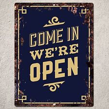 PP0147 Rust OPEN Sign Home Store Shop Cafe Restaurant Interior Wall Decor Gift