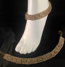 Gold Anklet/Payal,Stunning Fashion jewellery,Bollywood style,SV23-504
