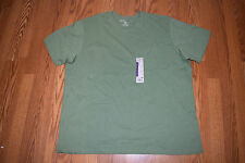 New Mens EDDIE BAUER Cactus Green Pocket Basic T Shirt Sz 3XL XXXL