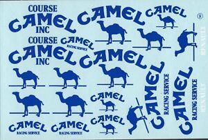 blauer Untergrund1:24-43 Decalbogen Camel oval 468