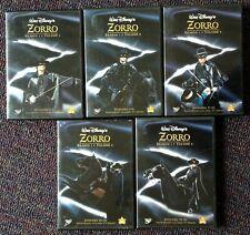 Zorro Season 1 Vol. 1 - 5 DVD's (39 Episodes) Walt Disney