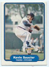 Kevin Saucier signed 1982 Fleer baseball Detroit Tigers autograph #275