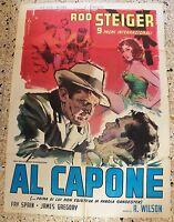 Werbeplakat Al Capone Rod Steiger Fay Spain James Gregory R. Wilson Top RAR V3