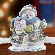 Thomas Kinkade Figurine-SNOW DAUGHTER/MY DAUGHTER New Item 0109328001 COA