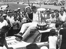 NASCAR SUPERSTAR FIREBALL ROBERTS WINS AT DAYTONA  8X10 PHOTO W/BORDERS