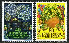 Liechtenstein 708-709, MI 764-765, MNH. EUROPA CEPT. Fireworks, Flowers, 1981