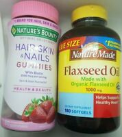 Nature's Bounty Hair, Skin, & Nails with Biotin/Nature Made Flaxseed Oil