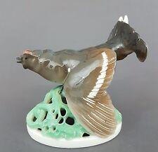 KPM Berlin Vogel Figur, Birkhahn Entwurf Karl Wilhelm Robra 1912, Höhe 13,5 cm