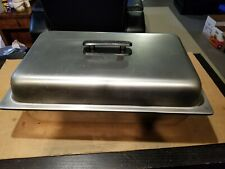 Full Size Stainless Steel Steam Table Pans Pan 21x13x 4 With Lid