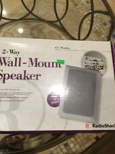 New listing Radio Shack 2 - Way Wall Mount Speaker 50 Watts 100 Watts Max