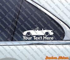 2x Custom YOUR TEXT lowered car sticker - for Mazda Miata / MX5 (NA) JDM Classic