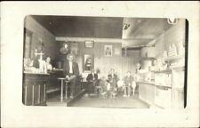 Store Restaurant Interior Stools Counter People Gumball Machine? RPPC c1910