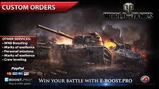 World of Tanks| Custom orders | Obj. 260, T-55a, e.t.c | not bonus code | WoT