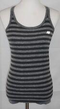 AB New Balance Medium Gray & Black Stripe Razor Back Tank Top-lined bodice/bra