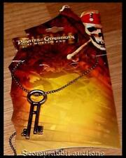 Disney PIRATES CARIBBEAN DEAD MANS CHEST WORLD'S END Davy Jones KEY & Chain Neck