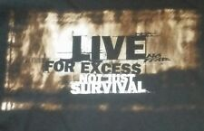 NO FEAR Vintage USA Mens black XL Shirt LIVE FOR EXCESS NOT JUST SURVIVAL XLARGE