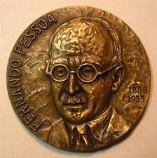 Literature Portuguese Writer Fernando Pessoa/Bronze Medal by José de Moura M19a