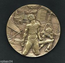 Man / Landscape / Industry Factory /Artistic Big Bronze Medal by BERARDO M. 21