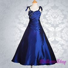 Royal Blue Wedding Flower Girls Dresses Ball Gown Pageant Party Kid Size 8 FG167