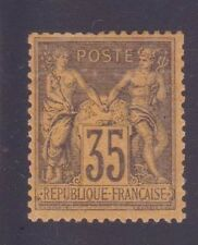 "FRANCE N°93 ""SAGE 35c VIOLET-NOIR S. JAUNE"" NEUF x TB"