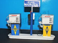 SUNOCO Service Station Gas Pump Island(Ready to Display) 1:18-1:24 Scale NWB
