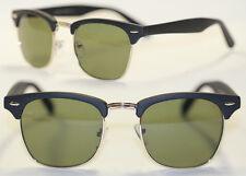 Retro Sonnenbrille 50er Jahre schwarz matt gummiert silber Vintage Brille 531