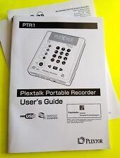 PLEXTALK PLEXTOR PTR1 PORTABLE RECORDER AUDIO BOOK PLAYER *NEW* -FREE SHIPPING-