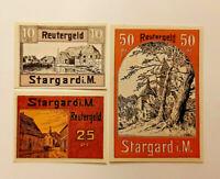STARGARD REUTERGELD NOTGELD 10, 25, 50 PFENNIG 1922 NOTGELDSCHEINE (11932)