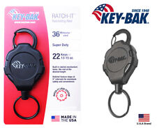 "Key-Bak Ratch-IT Lock Retractable Key Holder Carabiner Super Duty 36"" Cord"