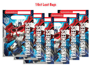 Transformers Optimus Prime Loot Treat Bags Birthday Party Favor Supplies ~ 16ct.